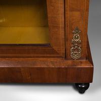 Antique Pier Cabinet, English, Walnut, Inlay, Display Cupboard, Victorian, 1870 (12 of 12)