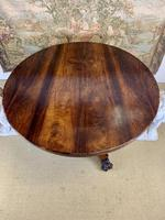 19th Century Rosewood Round Centre Table (2 of 8)