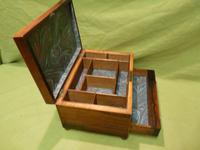 Unisex Rosewood Jewellery Box. Front Drawer. C1830. (9 of 11)