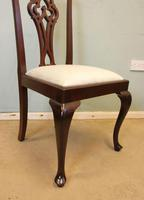 Antique Set of Six Mahogany Chippendale Style Dining Chairs (7 of 8)