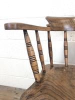 Antique Ash and Elm Smoker's Bow Chair (m-2303) (4 of 10)