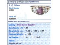 1.28ct Burmese Pink Sapphire & 0.76ct Diamond, 22ct Yellow Gold Trilogy Ring - Antique Victorian (9 of 12)
