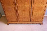 Quality Burr Walnut Triple Wardrobe c.1930 (13 of 15)