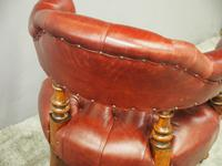Victorian Walnut and Leather Office Chair (9 of 10)