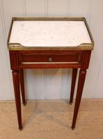 French Mahogany Marble Top Table (4 of 10)