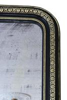 19th Century ebonised and gilt mirror overmantle wall (4 of 9)