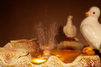 Unusual Vallauris Ceramic Love Birds & Dolphins Free Standing Centre Fountain (9 of 20)