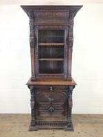 Victorian Carved Oak Cabinet with Glazed Top (2 of 11)