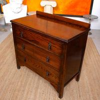 Oak Chest of Drawers Solid Wild Oak c.1920 (13 of 13)