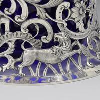 Large Victorian Irish Silver Dish 'Potato' Ring Wakely & Wheeler Wild Animals (10 of 18)