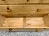 Antique Victorian Pine Chest of Drawers with Key (12 of 15)