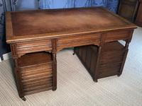 Victorian Oak Aesthetic Movement Desk (17 of 18)
