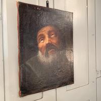 Antique Georgian oil painting portrait of elderly bearded gentleman (4 of 9)