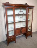 Edwardian Carved Mahogany Display Cabinet / China Cabinet (3 of 13)