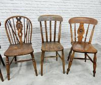 Interesting Harlequin Set of 6 Windsor Kitchen Chairs (6 of 6)
