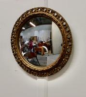 Carved Wood Convex Gilt Wall Mirror (2 of 4)