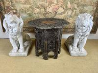 19th Century Indian Carved Occasional Table (2 of 7)