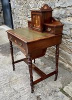 Antique Rosewood Inlaid Writing Desk (4 of 19)