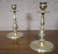 Pair of Brass Arts and Crafts Candlesticks (12 of 12)