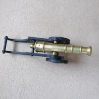 Large Cast Iron and Brass Display Cannon (2 of 3)