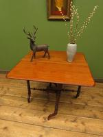 Antique 19th Century Sutherland Table, Drop Leaf Occasional Table for afternoon tea (13 of 17)