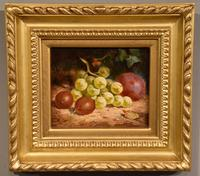 """Oil Painting Pair by William Hughes """"White Grapes"""" & """"Black Grapes"""" (2 of 5)"""