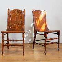 Pair Attractive Victorian Pierced Bentwood Side Chairs (14 of 14)