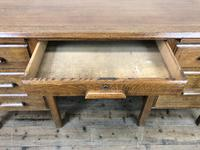Early 20th Century Oak Desk with Six Drawers (6 of 10)