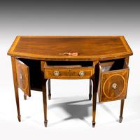 George III Sheraton Period Mahogany Bow Front Sideboard (7 of 7)
