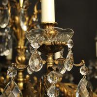 Italian Gilt Bronze 10 Light Antique Chandelier (3 of 10)