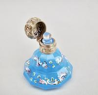 Exquisite Victorian Silver Gilt Enamelled Opaline Glass Scent Bottle c.1870 (4 of 7)