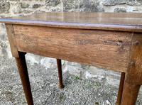 18th Century Georgian Oak Pad Foot Side Table (7 of 15)