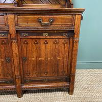 Victorian Holland & Sons Antique Oak Sideboard (9 of 9)