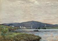 Andrew Gamley RSW - A Lochside Village Watercolour Painting (2 of 12)