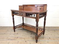 Antique Edwardian Mahogany Desk (2 of 12)
