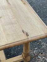 Rustic Bleached Oak Farmhouse Dining Table (8 of 25)