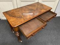 Fine Rare Burr Walnut Writing Table or Desk (5 of 20)