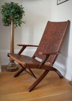 Peruvian Tooled Saddle Leather Folding Armchair (8 of 13)