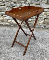 Small Antique Mahogany Butlers Tray on Stand (6 of 15)