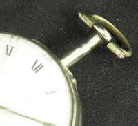 Antique Silver Pair Case Pocket Watch Fusee Verge Escapement Key Wind Enamel Dial W J Wolverhampton (10 of 11)