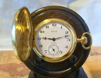Vintage Pocket Watch 1970s Swiss Avia 17 Jewel 12ct Gold Plated Full Hunter Fwo (2 of 12)