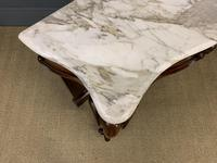 Victorian Mahogany Marble Topped Console Table (5 of 11)
