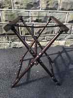 Antique Oak Butlers Tray Stand