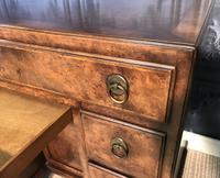 George III Style Burr Walnut Desk c.1920 (12 of 20)