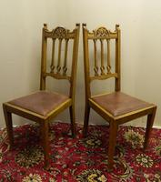 Set of 4 oak Arts & Crafts dining chairs (3 of 5)