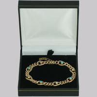 Antique 15ct Gold Turquoise & Pearl Curb Link Bracelet Victorian Bracelet c.1880 (9 of 10)