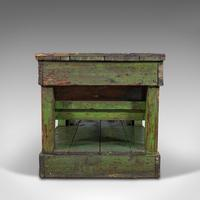 Large Antique Industrial Mill Table, English, Pine, Kitchen Island, Victorian (5 of 12)