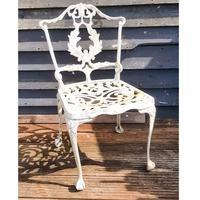 Aluminium Vintage White Painted Five Piece Patio Set (6 of 12)