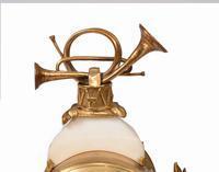 Antique Clock Set French Garniture Gilt & Marble Cherubs (8 of 14)