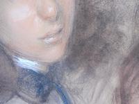 Large Pastel Portrait Two Girls Monogrammed TC 1910 (4 of 10)